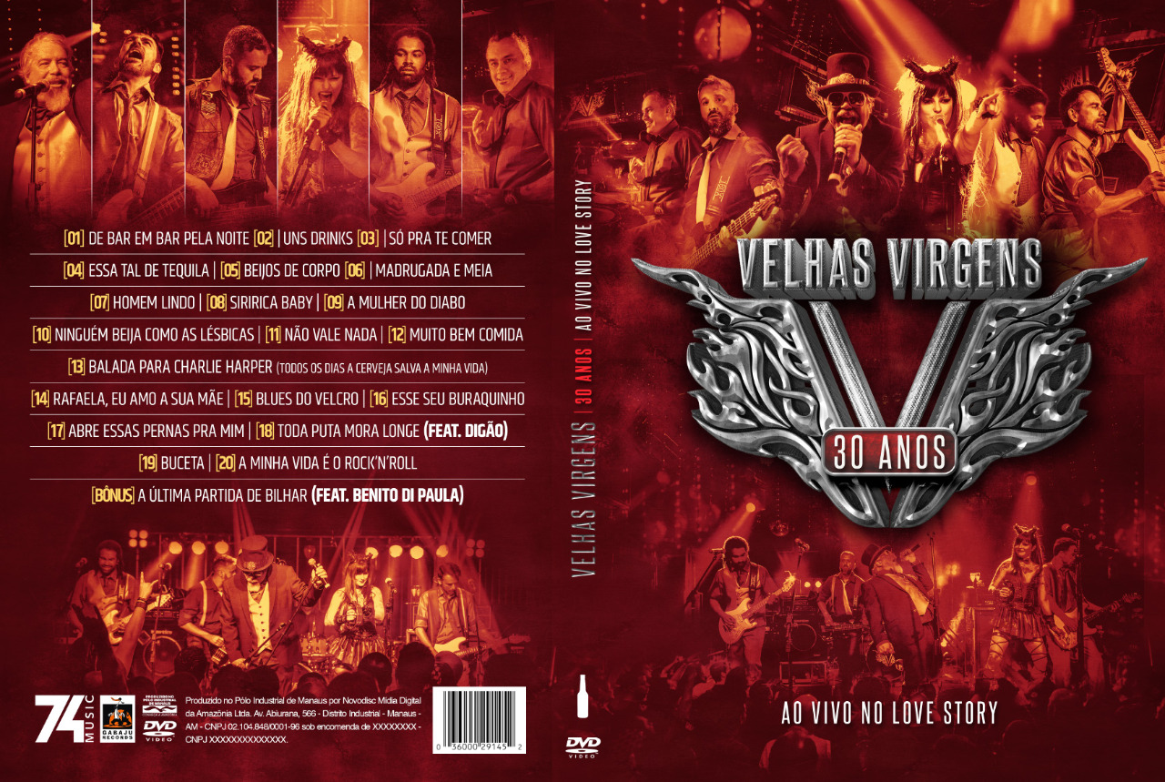 DVD e CD - Velhas Virgens 30 anos - Ao Vivo no Love Story